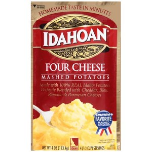 Idahoan Mashed Potatoes, Four Cheese, 4 Oz