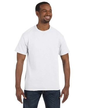 JERZEES LONG SLEEVE T - SHIRT (WHITE)