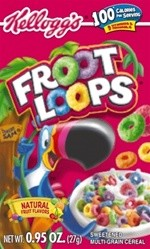 Kellogs Fruit Loop Cereal .95oz Box