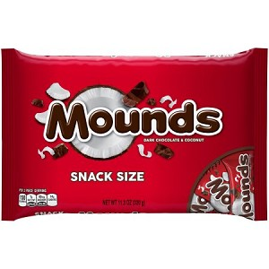 MOUNDS Snack Size Candy Bars, 11.3 oz