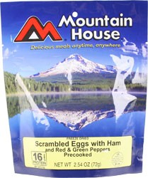 Mountain House Scrambled Eggs with Ham & Peppers 4 oz