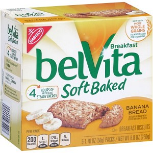 Nabisco belVita Breakfast Soft Baked Breakfast Biscuits Banana Bread - 5 CT 10 oz