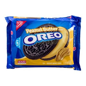 Nabisco Oreo Sandwich Cookies Peanut Butter Creme 15.25 OZ