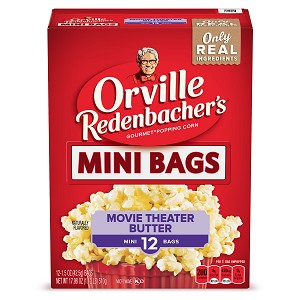Orville Redenbacher's Movie Theater Butter Microwave Popcorn, Mini Bags, 1.5 Oz, 12 Ct
