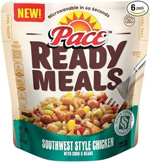 Pace Ready Meals, Southwest Style Chicken with Corn and Beans, 9 oz.