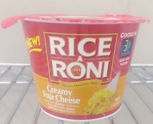 Rice A Roni Creamy 4 Cheese Flavor Cup. 2.2 oz