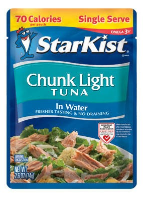 StarKist Chunk Light Tuna In Water Pouch 2.6 oz