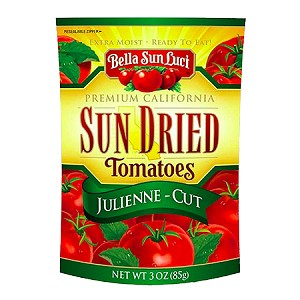 Sun Dried Tomatoes Julienne-Cut (Resealable Pouch)