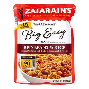 Zatarain's New Orleans Style Big Easy Red Beans & Rice, 8.8 OZ