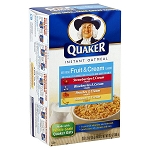Quaker Instant Oatmeal w/ Fruit & Cream 10 - 1.23 oz Packets