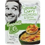 Campbell's Go Coconut Curry Soup with Chicken & Shiitake Mushrooms, 14 oz