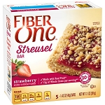 Fiber One Streusel Bar, Strawberry, 8 Oz, 5 Ct