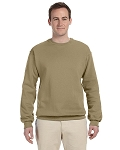 Jerzees Men's Sweat Shirt 50/50 NuBlend Fleece Crew (Khaki)