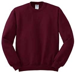 Jerzees Men's SweatShirt 50/50 NuBlend Fleece Crew (Maroon)