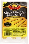 Old Fashioned Cheese Snack Stick, Mega Cheddar, 3 Ounce 3 Sticks