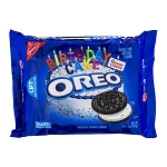 Oreo Birthday Cake Chocolate Sandwich Cookies, 15.25 OZ