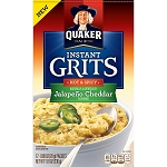 Quaker Instant Grits, Jalapeno Cheddar, 12 Packets