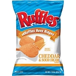 Ruffles Cheddar & Sour Cream Ridged Potato Chips 1.5 oz