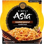 Simply Asia: Sa Ht & Srv Roasted Peanut Wheat Noodle Bowls, 8.50 oz