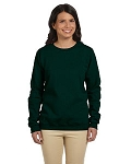 Jerzees Women's SweatShirt 50/50 NuBlend Fleece Crew (Forest)