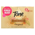 Tone Original Bar Soap - Cocoa Butter, 4 Pack