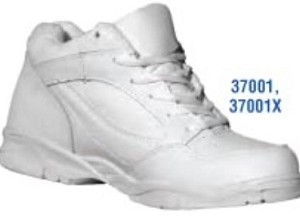 Shoe Corp White Leather Mid-High Athletic Shoe
