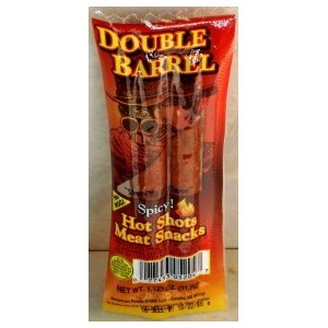 Double Barrell Spicy Hot Shots Meat Snacks