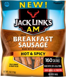 Jack Links A.M. Breakfast Sausage - Hot & Spicy 5 oz.