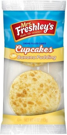 Mrs Freshleys Creme Filled Banana Pudding Cup Cakes 5 oz