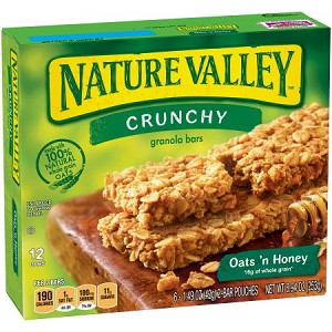 Nature Valley Oats 'n Honey Crunchy Granola Bars 6-2 ct Pouches