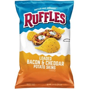 Ruffles® Loaded Bacon & Cheddar Potato Skins Potato Chips 8.5 oz. Bag